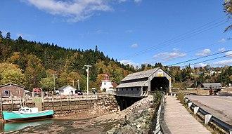 St. Martins, New Brunswick - St. Martins and its twin covered bridge