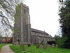 St Mary Magdalene Church, Pulham Market, Norfolk - geograph.org.uk - 804953.jpg