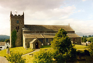 Hawkshead - Hawkshead Parish Church, built in 1300 and rebuilt in the 16th century