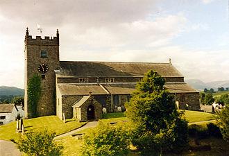 Hawkshead - Hawkshead Parish Church, built in 1300 and rebuilt in the 16th century