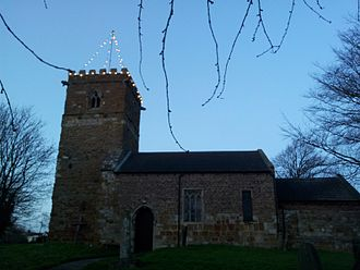 Holton-le-Clay - St Peter's Church at Christmas