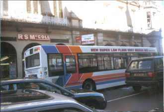 A Stagecoach Highlands bus in Inverness, 1999 Stagecoach Group bus, original corporate livery, Inverness, 1999.png