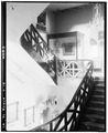 Stair at second story landing. June 1936. - The Cabildo, 711 Chartres Street, New Orleans, Orleans Parish, LA HABS LA,36-NEWOR,4-18.tif