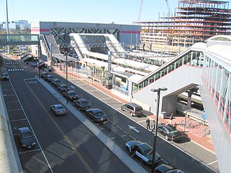 Stamford Transportation Center - Stamford station from the garage in 2007