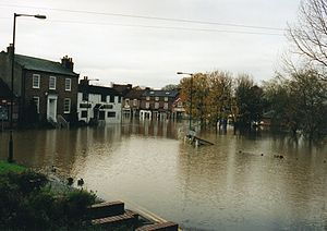 Stamford Bridge, East Riding of Yorkshire - Village flood in October 2000