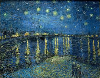 Dutch art - Starry Night Over the Rhône by Vincent van Gogh, 1888