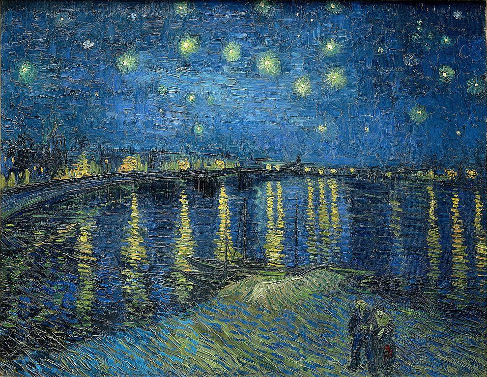 Notte stellata sul Rodano van gogh