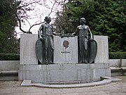A statue honoring Harding on a speech he delivered on relations between the United States and Canada in Stanley Park, Vancouver, British Columbia, Canada.