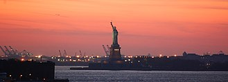United States labor law - Image: Statue of liberty, sunset
