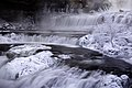 Steam rising from Willow Falls in subzero temperatures at Willow River State Park in Hudson, Wisconsin.jpg
