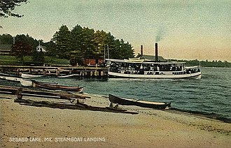 Sebago Lake - Steamboat Landing in c. 1910