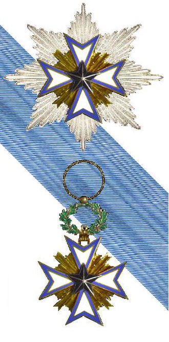 Order of the Black Star - The Grand Croix badge, ribbon and plaque