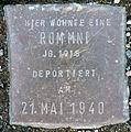 Stolperstein-Rommni Jg 1915-Stein 164-Koeln-cc-by-denis-apel.jpg