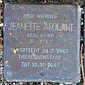 Stolperstein Bad Nenndorf Hauptstraße 27 Jeanette Apolant
