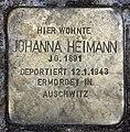 Stolperstein Emser Str 16 (Wilmd) Johanna Heimann.jpg