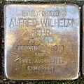 Stolperstein Karlsruhe Alfred Wilhelm Behr Kriegsstr 192 (fcm).jpg