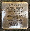 Stolperstein Karlsruhe Klara Moos Gartenstr 5 (fcm).jpg