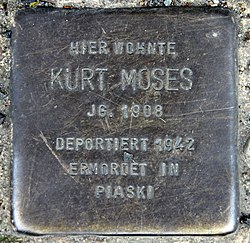 Photo of Kurt Moses brass plaque