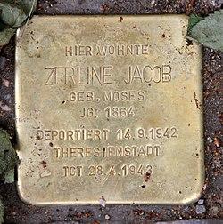 Photo of Zerline Jacob brass plaque