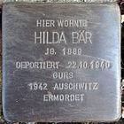 Stolperstein für Hilda Bär