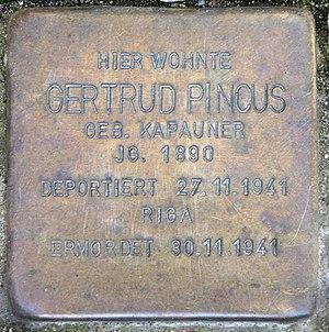 Deutsch: Stolperstein, Gertrud Pincus, Windsch...