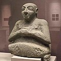 Stone statue of Kurlil Early Dynastic III 2500 BC Tell Al-'Ubaid, Iraq.jpg