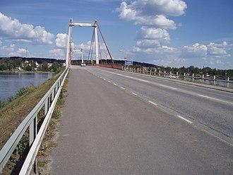 Strömsund Bridge - View of Strömsund Bridge from western side.
