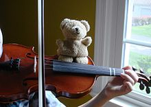 Stuffed Bear on Violin.JPG