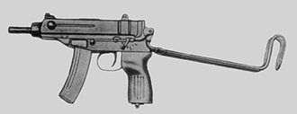 Škorpion - The early vz. 61 with stock extended.