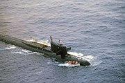 Submarine Yankee I damaged