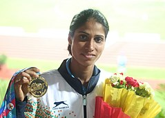 Sudha Singh, Gold Medalist For India In 3000m SC.jpg