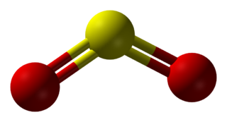 The sulfur dioxide molecule is bent.