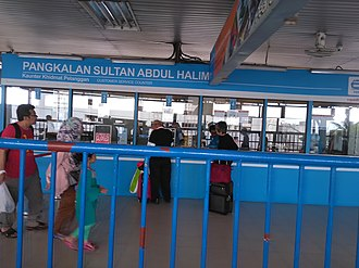 Rapid Ferry - The information and ticketing counter at Sultan Abdul Halim Ferry Terminal.