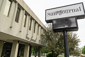 Sun Journal (Lewiston, Maine) - The Sun-Journal office at 104 Park Street.