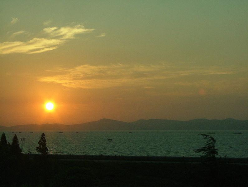 Sunrise over Taihu Lake
