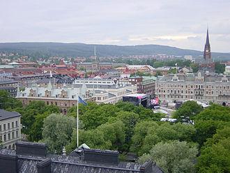 Stenstaden - Sundsvall from above.