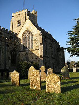 Easton, Cambridgeshire - Image: Sunlight on grave stones geograph.org.uk 1208343