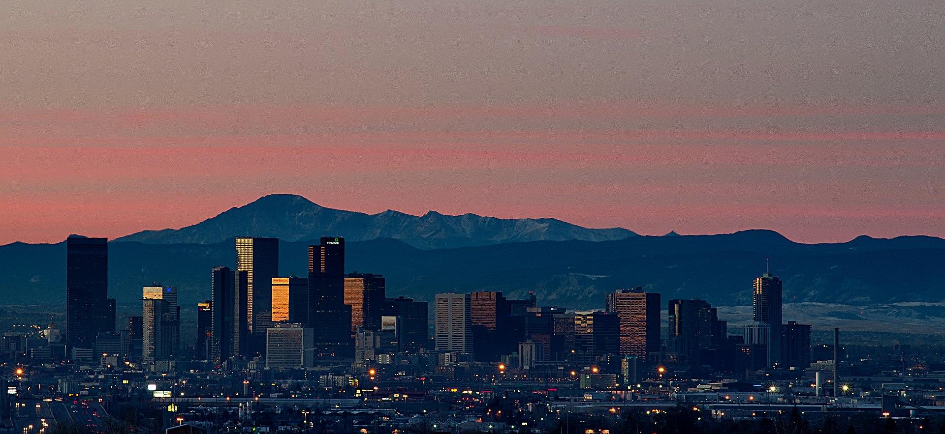 1920px Sunrise Over Denver Skyline