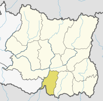 Sunsari District - Location of Sunsari district in Nepal