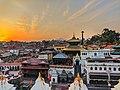 Sunset at Pashupatinath Temple.jpg