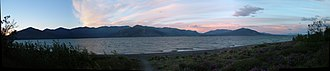 Kluane Lake - Image: Sunset over Kluane Lake Pano cropped