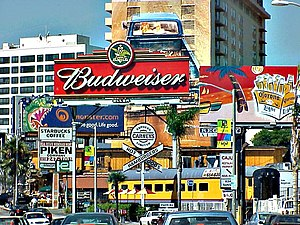 Sunset Boulevard - Signs along the Sunset Strip