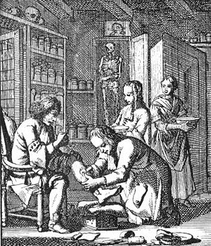 "Het Menselyk Bedryf (""The Book of Trades"") - Surgery in Amsterdam (ca. 1690)"