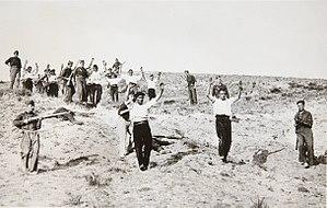 Battle of Guadarrama - Surrender of Republican militiamen in the Somosierra area