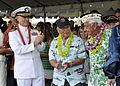Survivors of the attack on Pearl Harbor receive applause at the Pearl Harbor Visitor Center in Hawaii 121207-N-DB801-198.jpg