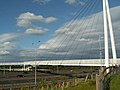 Suspension bridge over the M60 near Sale Water Park - geograph.org.uk - 447012.jpg