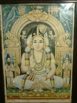 Nammalvar - Swami Nammaalwar with Madhurakavi Alwar and Nathamunigal