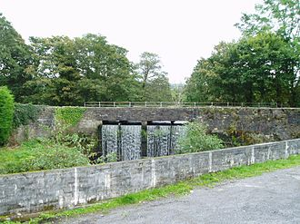 Swansea Canal - Lower Clydach Aqueduct, where the canal overflows into the Afon Clydach