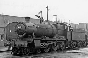 GWR 6800 Class - No. 6827 'Llanfrechfa Grange' at Swindon Works 29 November 1964.
