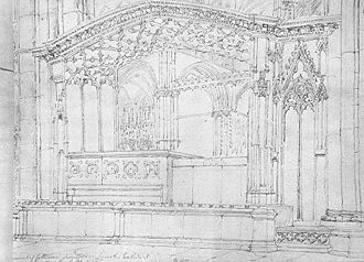 Joan Beaufort, Countess of Westmorland - Joan Beaufort and mother, Katherine Swynford's tomb – 1809 drawing